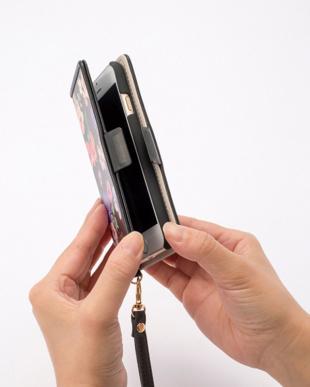 ブルー iPhone8・7用手帳型ケース・水彩フラワー/デジタルアクセサリーを見る