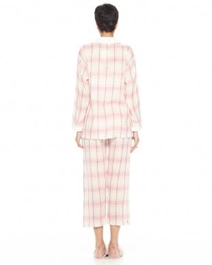 ピンク アクセントチェック パジャマを見る