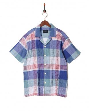 ブルー 17シャーリングチェック パジャマを見る