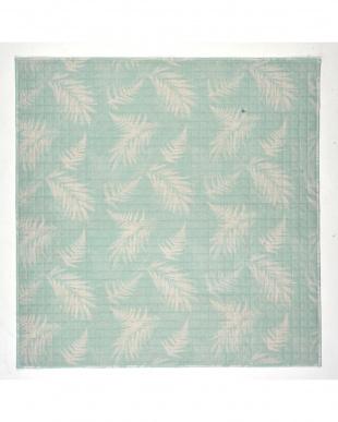グリーン 麻混キルトラグ アロハ 185×185cmを見る