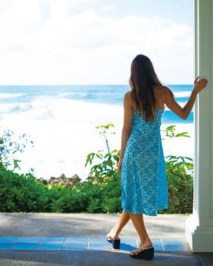 ターコイズ/ブルー Ocean Blue Bird 2WAYスカート&ベアワンピース(リゾートキルト)を見る