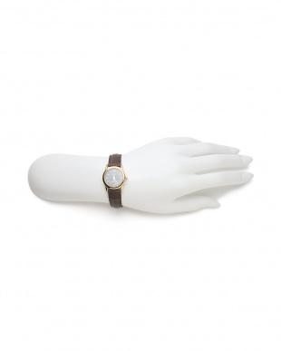 ダークブラウンブラック CASIO Leather belt watch/LTP-V001GL-1Bを見る