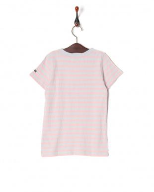 ピンク 16/- ボーダーテンジク S/S Tシャツを見る
