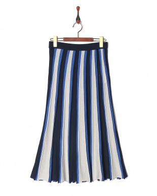 190 ラメ入り配色スカートを見る