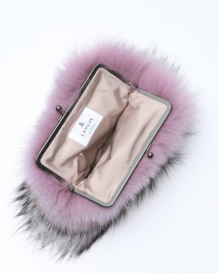 ピンク FOXがま口バッグを見る