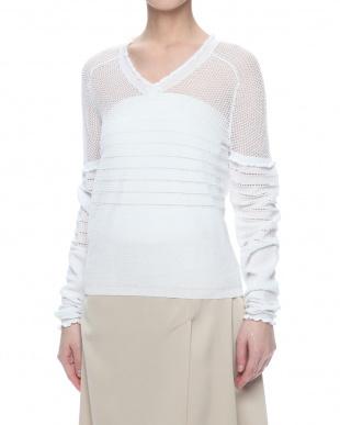 white ニット・セーターを見る