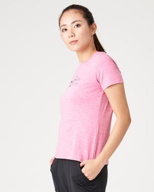 ピンク カチオンプリントTシャツを見る
