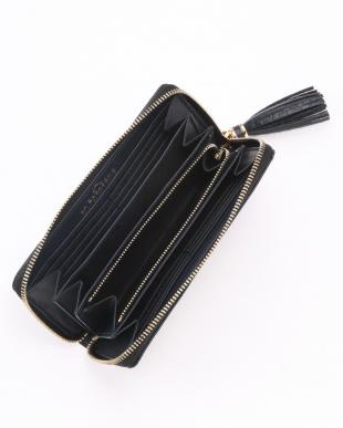 BLACK  クロコ型押しカウレザー 長財布を見る