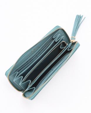 BLUE  クロコ型押しカウレザー 長財布を見る