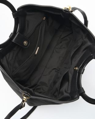 BLACK マルハンドルショルダー付きトートバッグ Mを見る