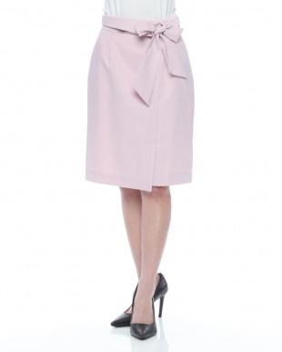 ピンク 2WAYラップフウスカートを見る