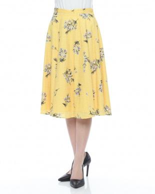 マスタード オリジナル花柄ボカシフラワースカートを見る