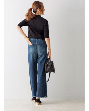 ブルーミックス [OKAYAMA DENIM]色コンビ裾フリンジワイドデニムパンツを見る