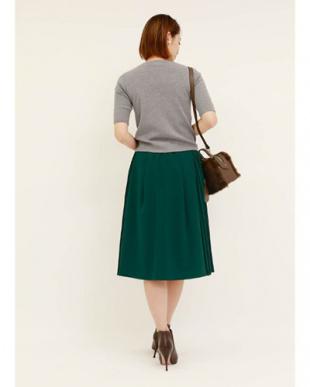 グリーン [Made in JAPAN]サイドプリーツフレアスカートを見る