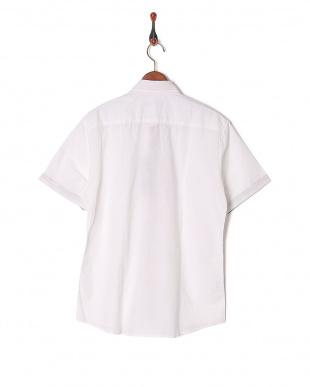 02 コットンリネンインサイドクレストブリッジチェックハーフスリーブシャツを見る
