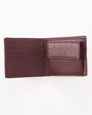 ボルドー クロコダイルホーン2つ折り財布を見る
