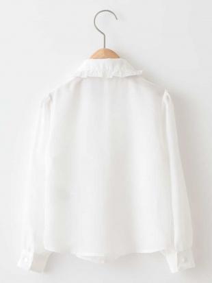 ホワイト 【セレモニースタイル】ジョーゼットブラウス a.v.v bout de chouを見る