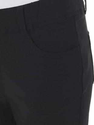 ブラック 【大きいサイズ】さらさら素材で履き心地抜群!ハイパーストレッチパンツ eur3を見る