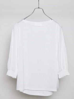 ホワイト 【大きいサイズ】【a.v.v×eur3】二の腕カバー!ドルマンスリーブカットソー eur3を見る