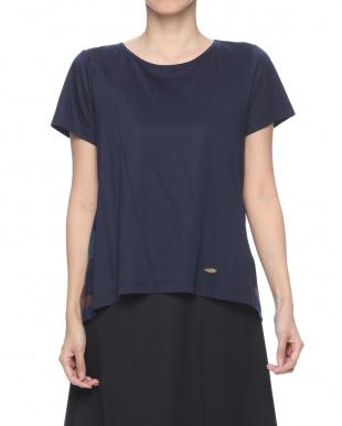 ネイビー クレストブリッジチェック デザインTシャツを見る