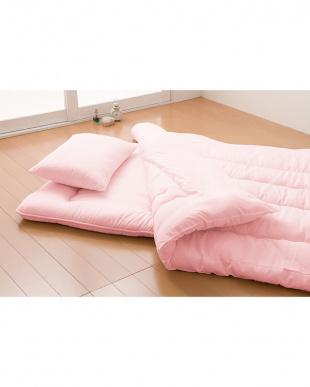 さくらピンク マイティトップわた仕様 日本製布団 3点セット シングルを見る