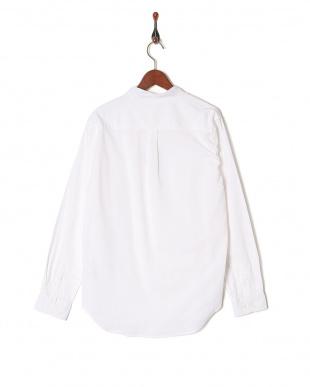 シロ 綿麻ストレッチバンドカラーシャツを見る
