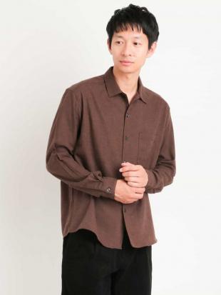 ブラウン ビエラツイルワイドシャツ[WEB限定サイズ] a.v.v HOMMEを見る