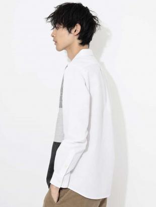 ホワイト パッチワークキリカエオックスシャツ[WEB限定サイズ] a.v.v HOMMEを見る