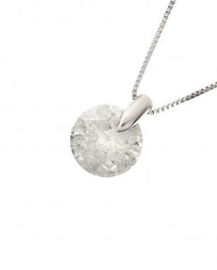 Pt 天然ダイヤモンド 1ctアップ ワンポイント留め プラチナネックレスを見る