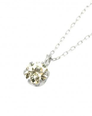 Pt 天然ダイヤモンド 0.3ct SIクラス プラチナ6本爪ネックレス・ あずきチェーンを見る
