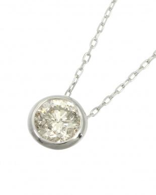 Pt 天然ダイヤモンド 0.3ct フクリン 一粒ペンダントを見る