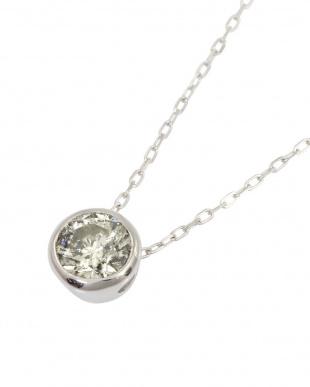 Pt 天然ダイヤモンド 0.5ct フクリン 一粒ペンダントを見る