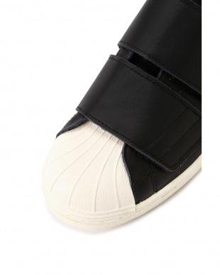 ブラック1 adidas ベルクロレザースニーカー R/B(バイイング)を見る