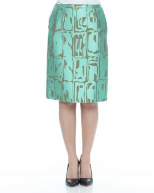 エメグリXベージュ ラッティ社 先染めジャカード スカートを見る