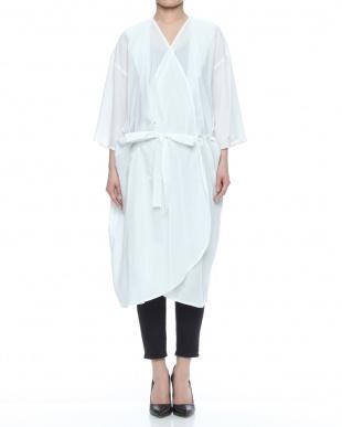 オフホワイト コットンキュプラローン ドレープ ドレスを見る
