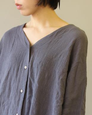CHARCOAL ママサイズ シングルガーゼ シャツ ワンピース|WOMENを見る