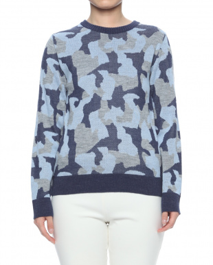 NAVY CAMOUFLAGE KNIT P/Oを見る