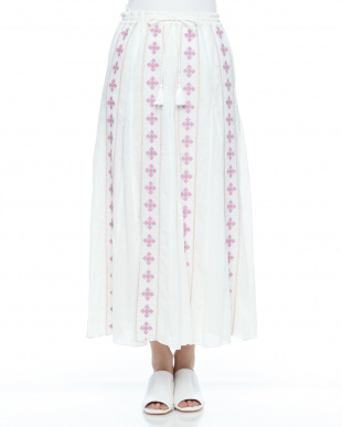 PINK EMBROIDERY LONG SKを見る