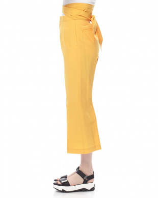 YELLOW WIDE BELTED TROUSERSを見る