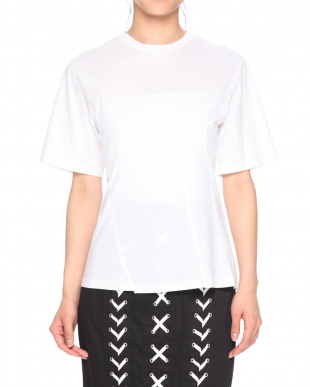 WHITE COTTON JERSEY TOPを見る