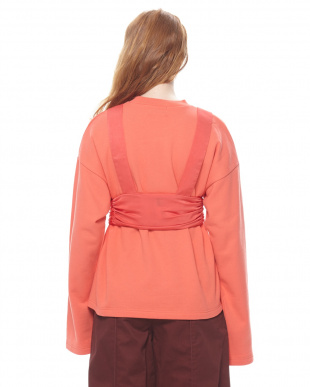 RED SATIN BELTED BIG SWEAT TOPを見る
