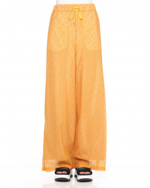 ORANGE TULLE LACE WIDE LEG TROUSERSを見る