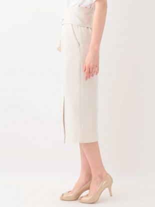 ライトグレー ウエストリボン付きナロースカート[WEB限定サイズ] a.v.vを見る