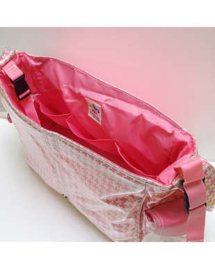 ハウンドトゥース ピンク バックルバッグを見る