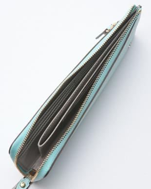35-ペールブルー イタリアンシュリンクレザー・Lファスナー長財布 TINTA ティンタを見る