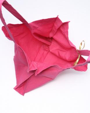 ピンク カラーリネントートバッグを見る