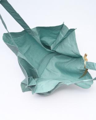 グリーン カラーリネントートバッグを見る