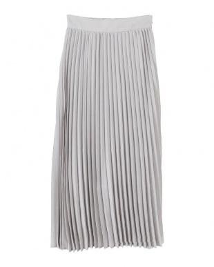 ライトグレー プリーツロングスカートを見る