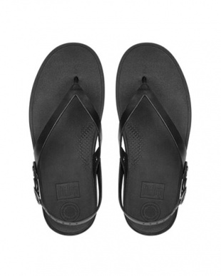 ABLACK FLIP LEATHER SANDALSを見る