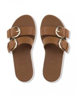 CARAME DUO-BUCKLE SLIDE SANDALS - LEATHERを見る